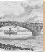 Eads Bridge, St Louis Wood Print