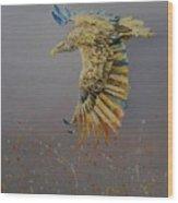 Eagle-abstract Wood Print