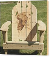 Eagle Adirondack Chair Wood Print