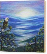 Eagle Blue Ridge Mountain Sunrise Wood Print