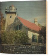 Eagle Bluff Lighthouse Wood Print