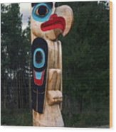Eagle Clan Totem Pole Wood Print