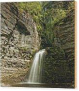 Eagle Cliff Falls Wood Print