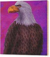 Eagle Crimson Skies Wood Print