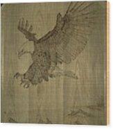 Eagle Door Panel Wood Print