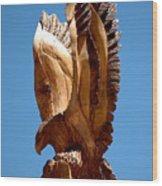 Eagle Has Landed Wood Print
