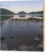 Eagle Lake Dusk Reflections Wood Print
