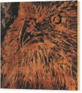 Eagle Metallic Copper Wood Print