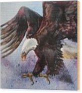 Eagle Of Light Wood Print