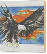 Eagle Of The Resurrection Wood Print