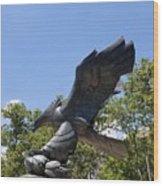 Eagle Statue  Wood Print