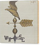 Eagle Weather Vane Wood Print