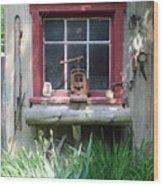 Eagle Window Wood Print