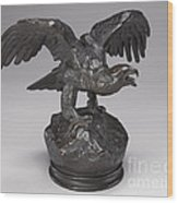 Eagle With Wings Outstretched And Open Beak Wood Print