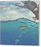 Eaglenfish Wood Print