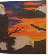 Eagles Are Back                 76 Wood Print
