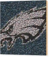 Eagles Bottle Cap Mosaic Wood Print