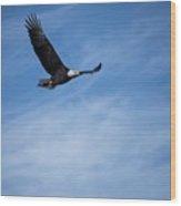 Eagles On The Fox - 3 Wood Print
