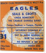 Eagles Tampa Stadium 1975 Wood Print