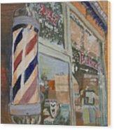 Eaker's Barbershop Wood Print