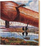 Early 1900s Military Airship Wood Print