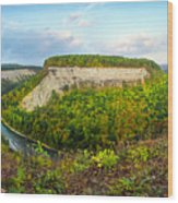 Early Autumn At Genesee River Canyon New York Wood Print
