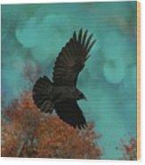 Early Autumn Flight Wood Print