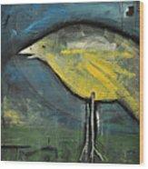 Early Bird At Sunrise Wood Print