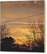 Early Bird Before Dawn Wood Print