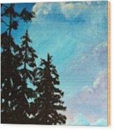 Early Evening II Wood Print