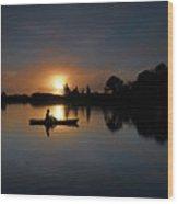 Early Fishing Wood Print