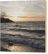 Early Lakeside - Waves Sand And Sunshine Wood Print