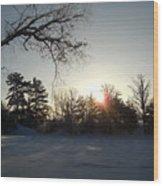 Early January Winter Sunrise Wood Print