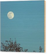 Early May Full Moon Wood Print