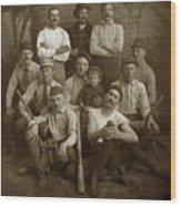 Early Monterey Baseball Team Circa 1895 Wood Print