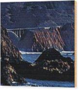Early Morning At Bixby Creek Bridge Wood Print