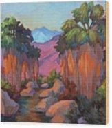 Early Morning At Indian Canyon Wood Print