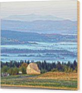 Early Morning At Sentinel Rock Wood Print