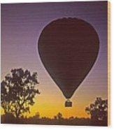 Early Morning Balloon Ride Wood Print