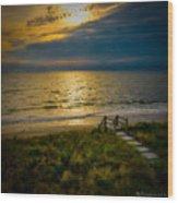 Early Morning Beach Wood Print