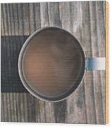 Early Morning Coffee  Wood Print
