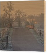 Early Morning Driveway Wood Print