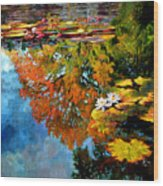 Early Morning Fall Colors Wood Print