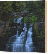 Early Morning Falls Wood Print