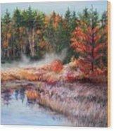 Early Morning Fog  Wood Print by Nita Leger Casey