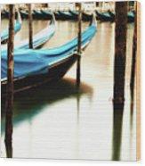 Early Morning Gondolas Wood Print