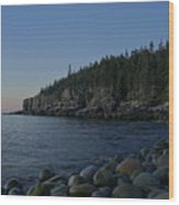 Early Morning In Acadia Wood Print