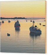 Early Morning In Chatham Harbor Wood Print