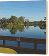 Early Morning In Lakes Park Fort Myers  Wood Print