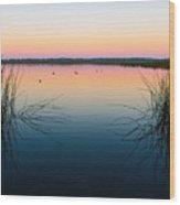 Early Morning Lake Wood Print